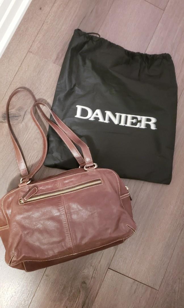 Vintage Danier Chocolate Brown Genuine Leather Bag