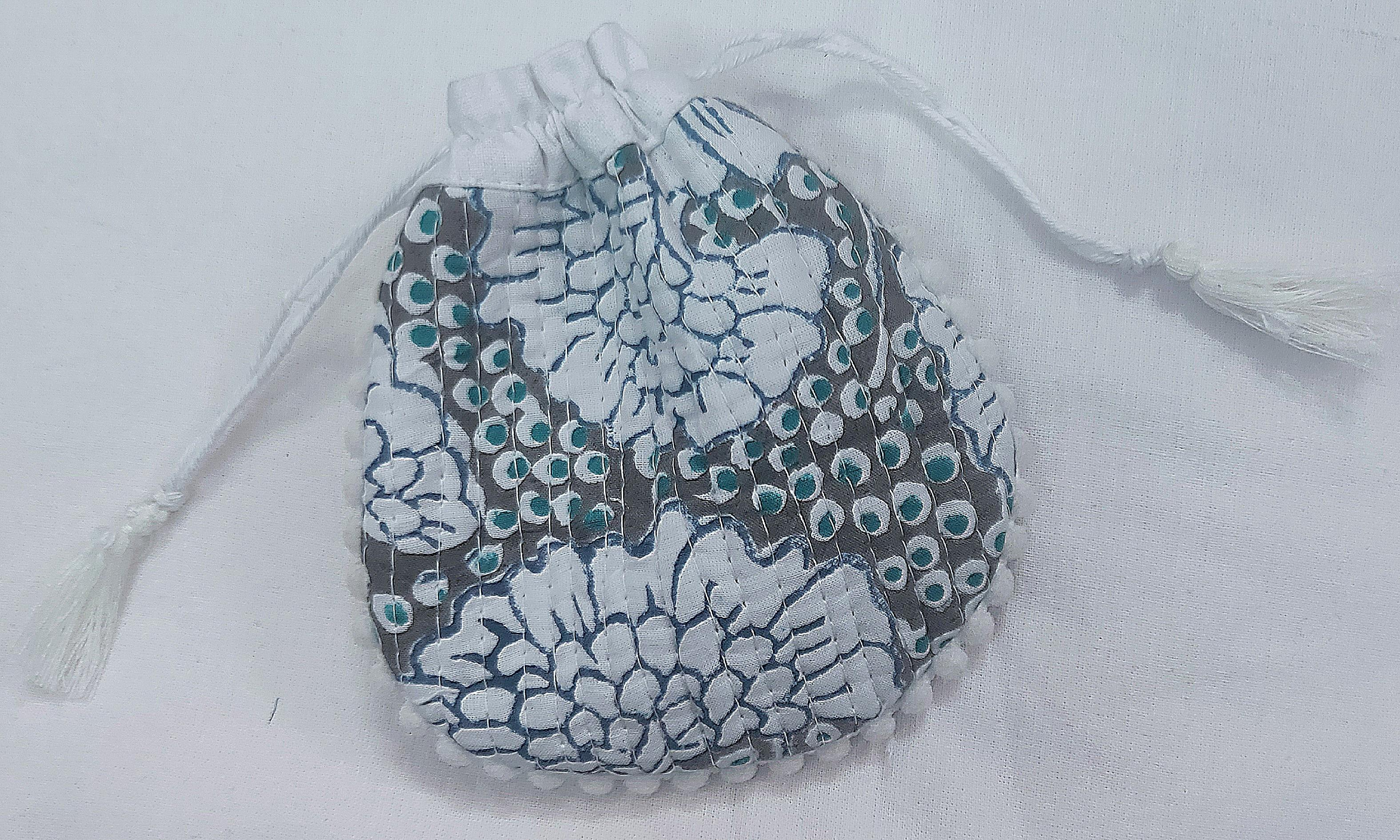 Drawstring  Handbags,  Cotton bags,  block print bags ,women's bags,  beach bags
