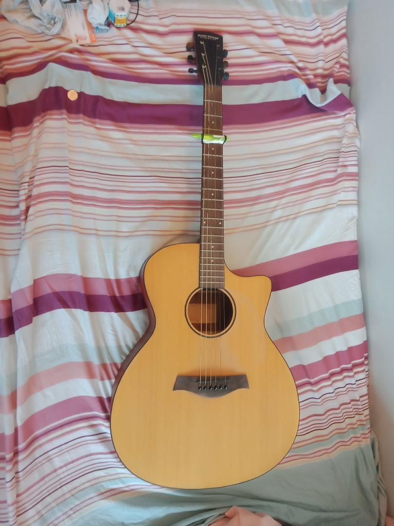 Higher Ground Acoustic Guitar + Case & some strings