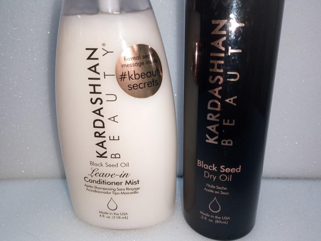 Kardashian beauty - black seed dry oil and leave in conditioner