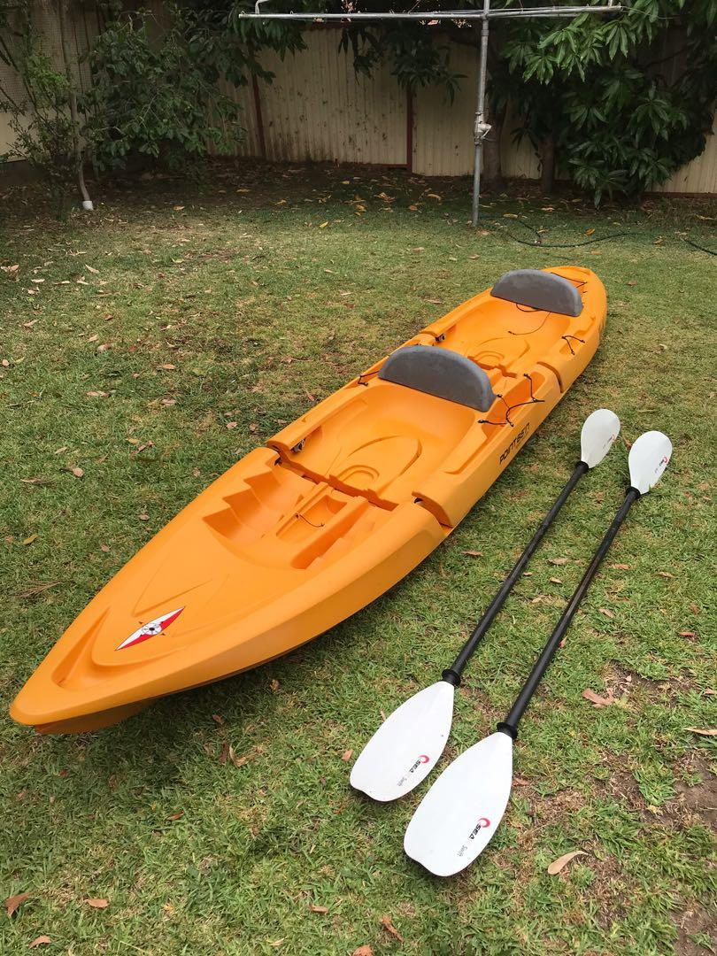 Kayak Point 65 North Tequila Tandem with paddles and seat rest