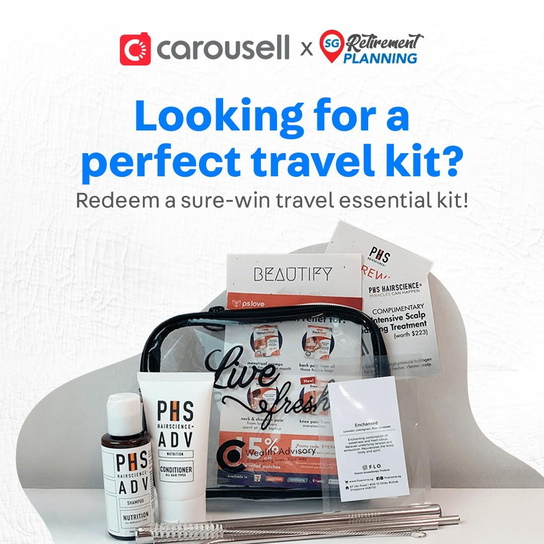 Looking for a perfect travel kit? Redeem a sure-win travel essential kit here!