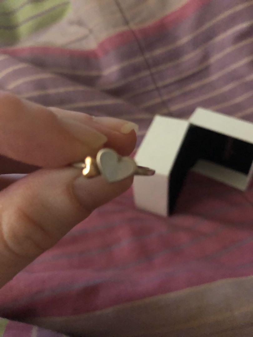 Pandora Luminous Two Tone Sterling Silver Ring - size 50