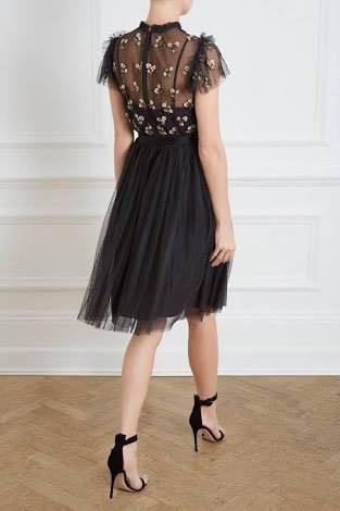 Needle & Thread Rococo Bodice Dress_Black_size UK8