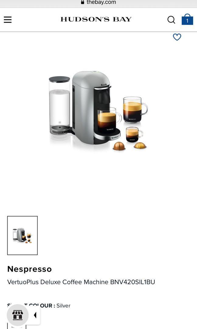 Nespresso VertuoPlus Deluxe by Breville +50 espresso
