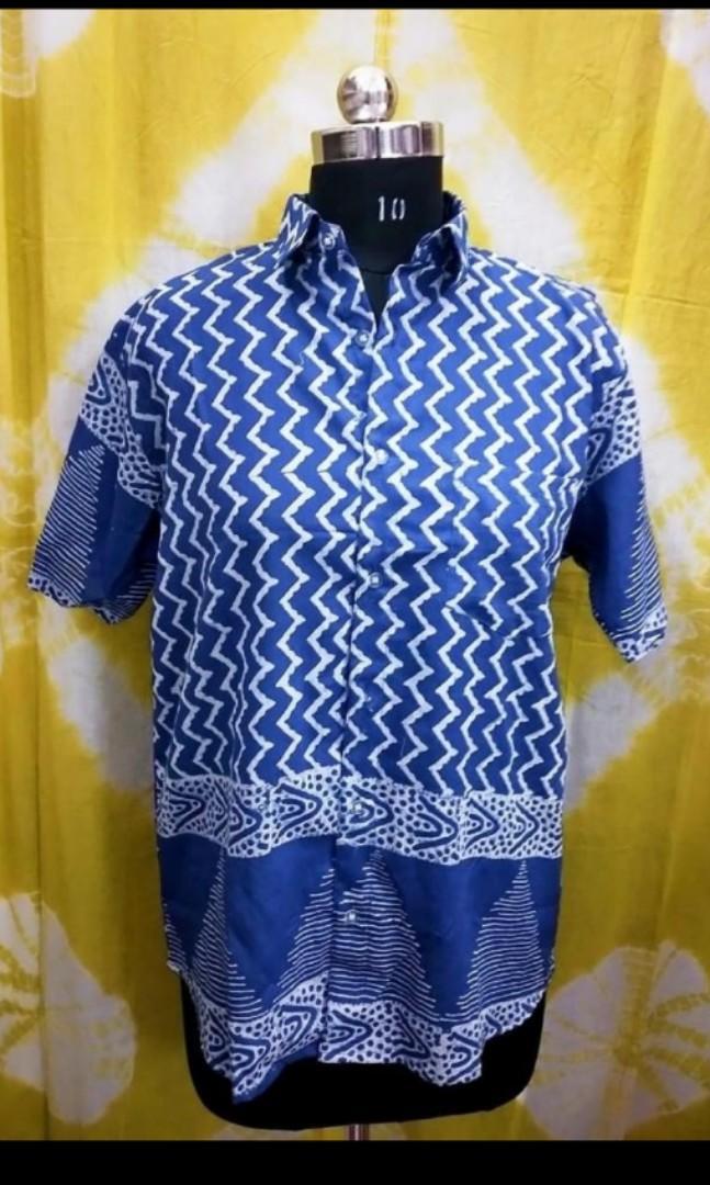 New Block printed Cotton Shirts detailing in Lovely Indigo