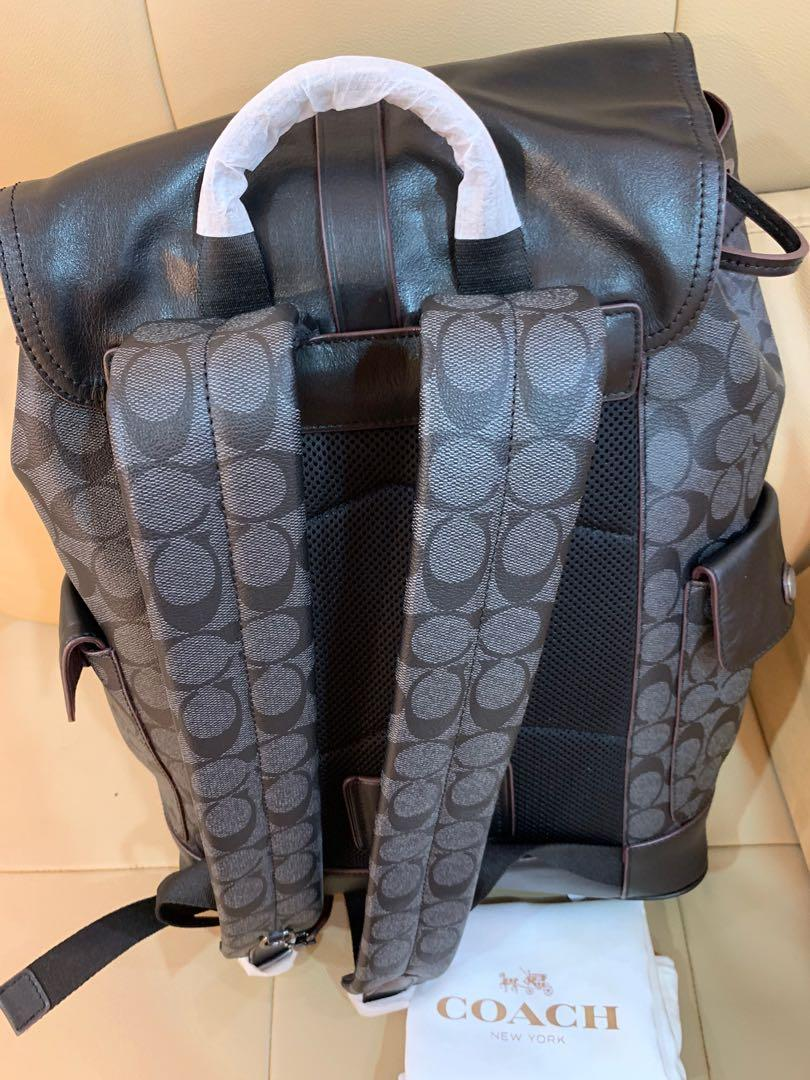 Ready Stock Ready stock authentic coach men traveller bag 50044 chirstmas sales backpack 🎒