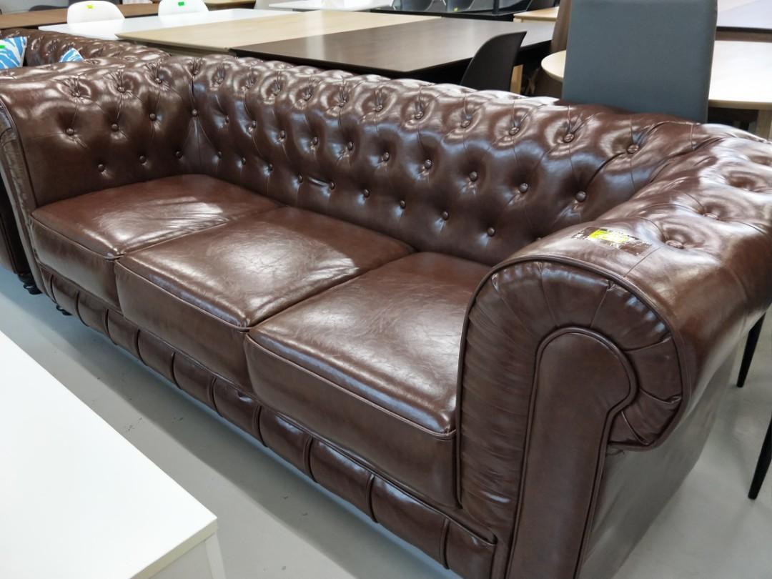 SALVADO II 3 Seater Sofa in OLD PU STYLE