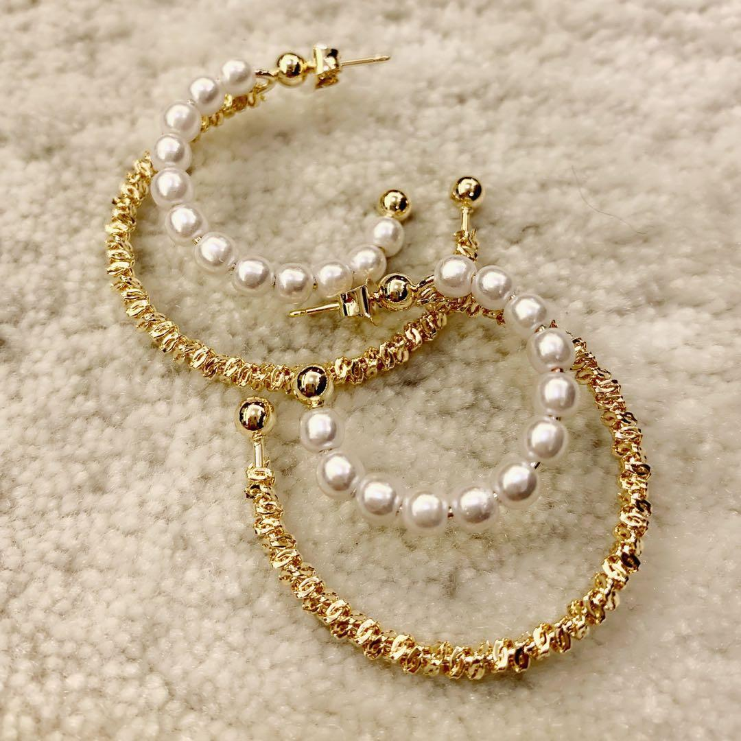 Simple & Elegant Korean Style Earrings (With pearls)