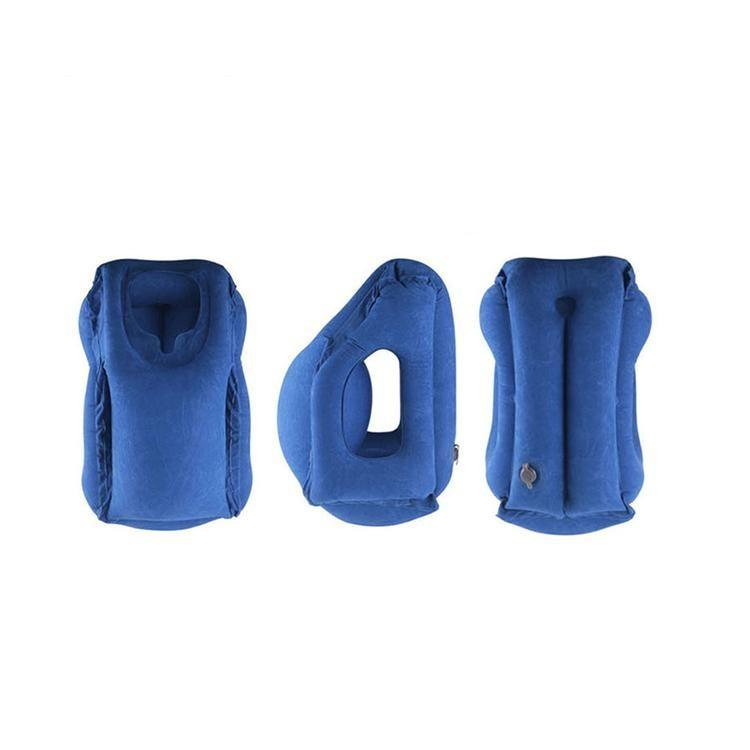 【best-selling】Sleep Aid Inflatable Travel Pillow Ergonomic And Portable Head Neck Rest Pillow Fast Inflate/Deflate Cushion Airplane Pillow