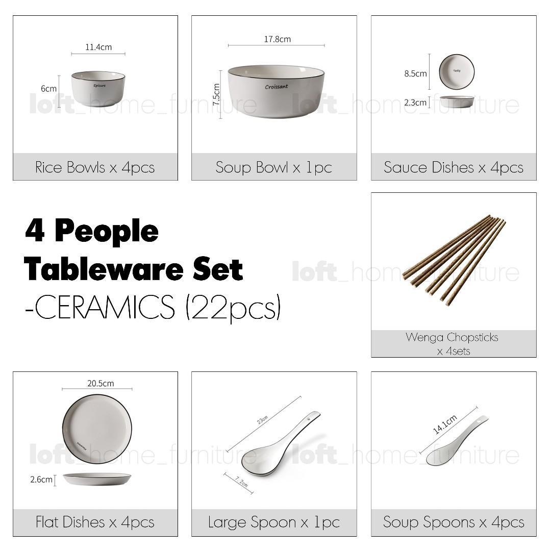 Tableware Set – CERAMICS (22pcs Set)