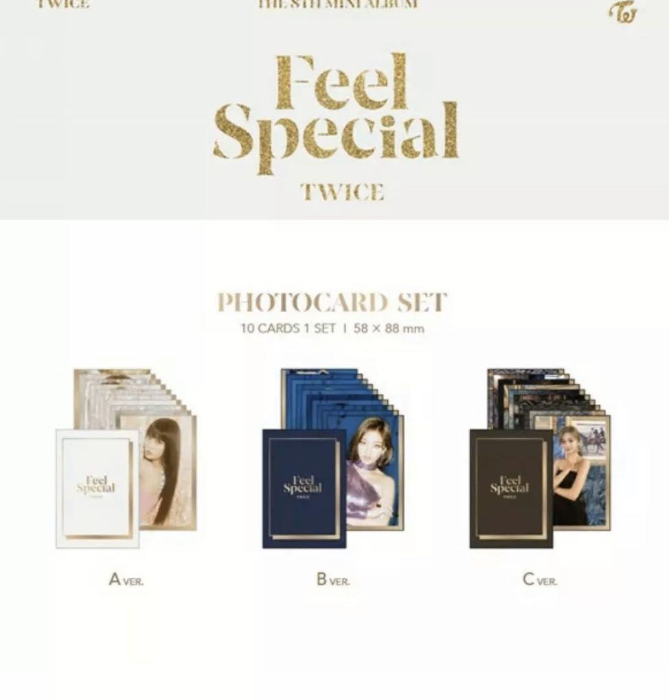 TWICE {FEEL SPECIAL} OFFICIAL 10 PIECES PHOTO CARD SET