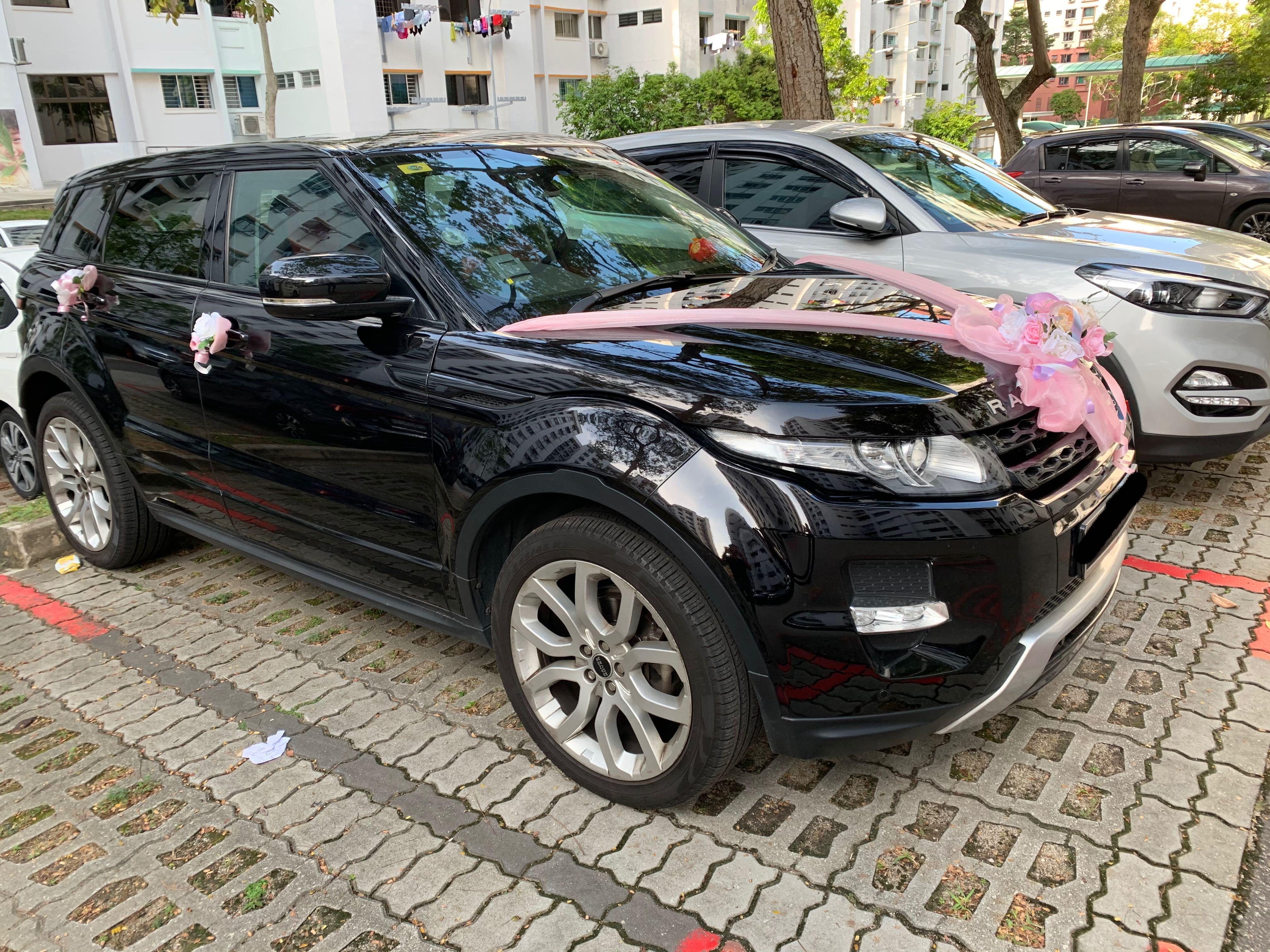 Wedding/bridal car rental with driver (Range Rover Evoque)