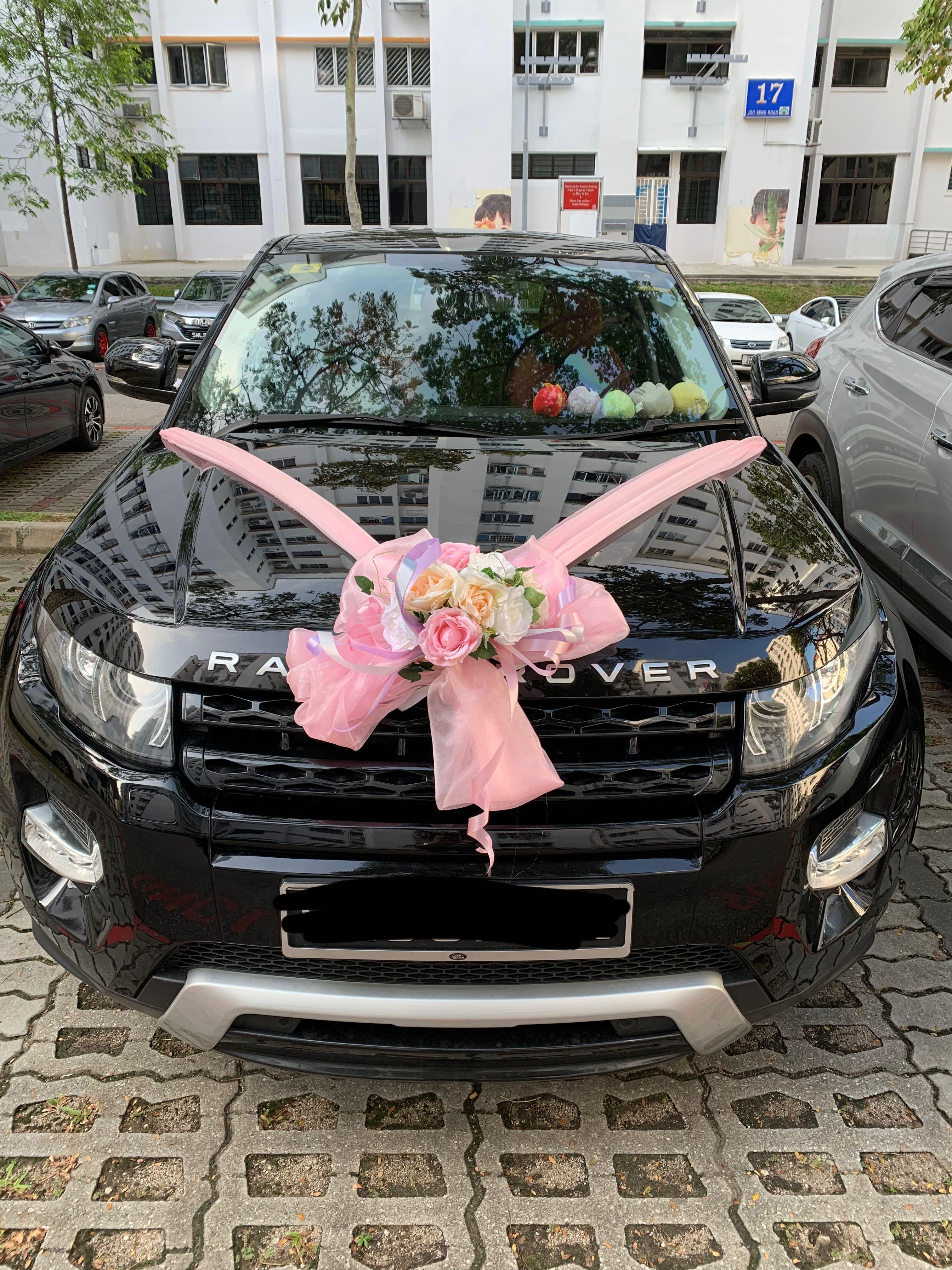 Wedding/bridal car rental with driver (Range Rover Evoque)