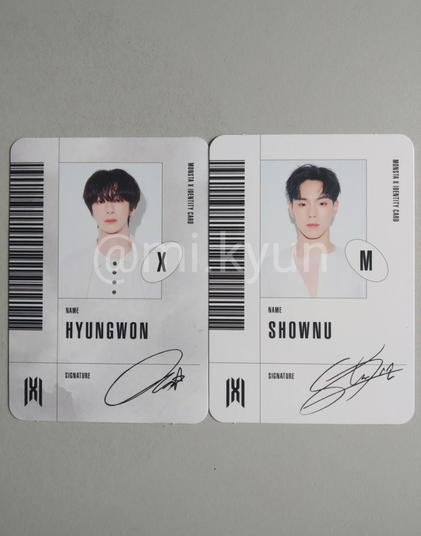 [WTT&WTS] MONSTA X FOLLOW : Hyungwon ID (X) & Shownu ID (M)