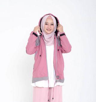 Jaket Wanita Anti Air Adv Pink Outdoor