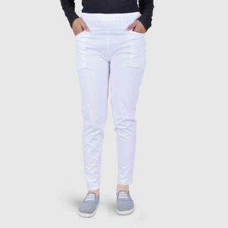 Celana Katun Stretch Panjang Putih