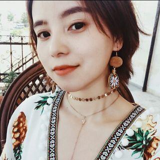 波西米亞風刺繡毛球耳環