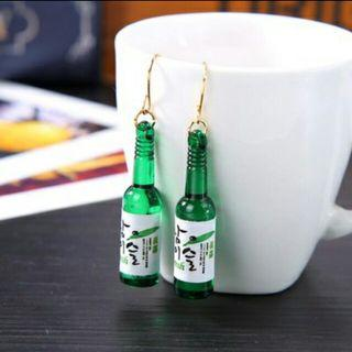 韓國燒酒瓶子耳環