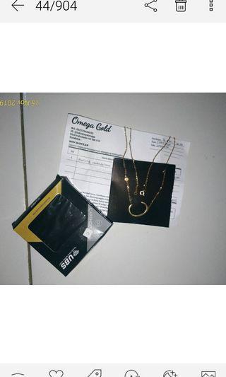 Kalung emas asli ubs