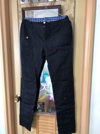 A la sha 貓咪造型黑色長褲