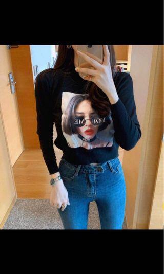 正韓女人👩🏼短版針織上衣