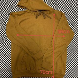 STICK 素色 刷毛 咖啡色帽TEE 寬版 oversize
