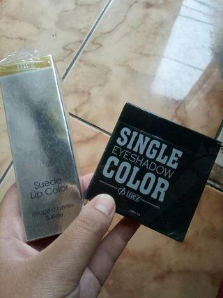 Lip color & single eye shadow inez
