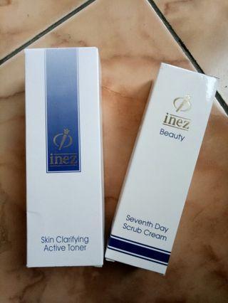 Skin clarifying toner & scrub cream
