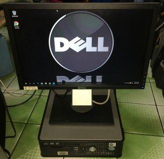 Dell Optiplex 755 商用立`臥型電腦 含dell顯示器