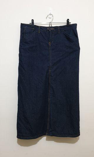 BTJ深藍色牛仔裙