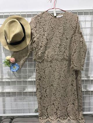 蕾絲鏤空氣質洋裝 #出清2019