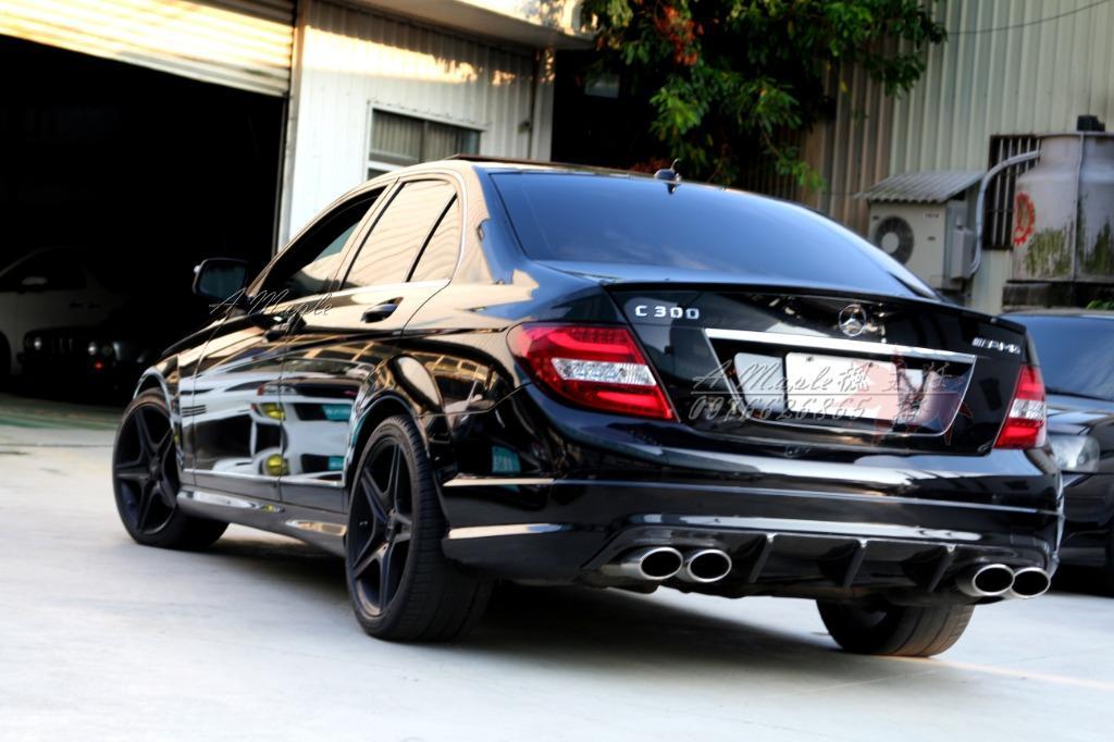 2007/8 C300 黑色AMG 全景天窗 大螢幕 正X派四出排氣管/粉專→A Maple橙奕(非W205 C180 C63 C250