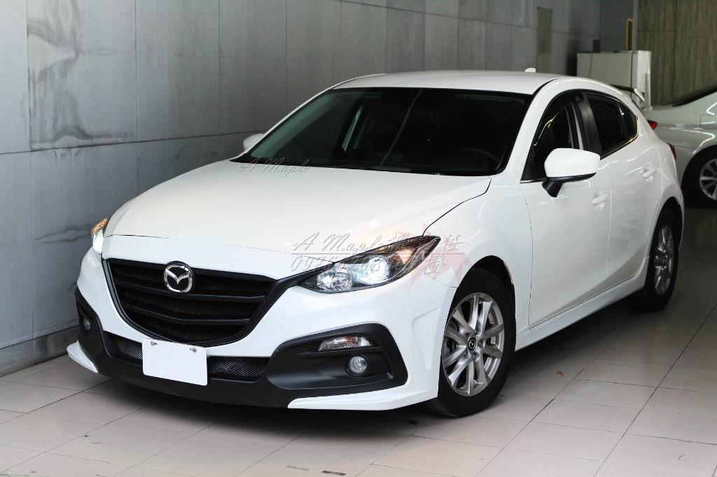 2015年 Mazda3 2.0 魂動 白色 KS前大包 後下擾流 尾翼改裝/粉專→A Maple橙奕(非mazda6 K12 lancer focus