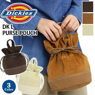 日本正品代購dickies毛毛絨毛泰迪熊小包巾著手拿包手提包燈芯絨可愛日本流行日本限定棉花糖羔羊束口袋束口包托特包