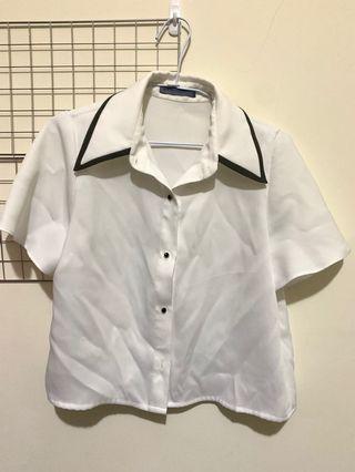 Majorie 特殊領短袖襯衫