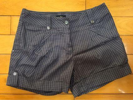 BearTwo-格紋短灰褲(九成新,僅穿過一次)