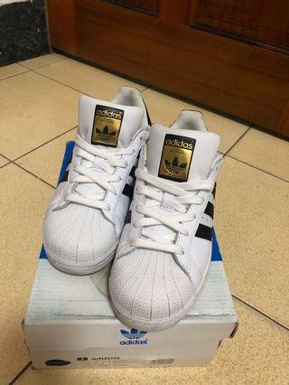 Adidas Originals Superstar 三葉草 經典金標貝殼頭