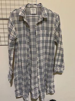 Pazzo 白色格紋襯衫 S
