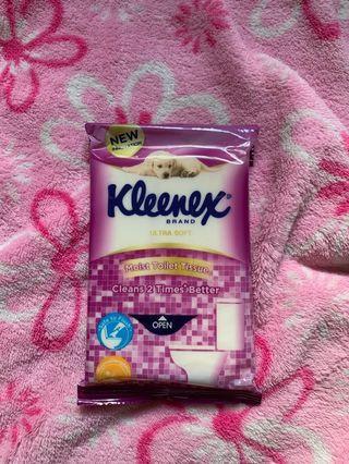 Kleenex toilet wipes