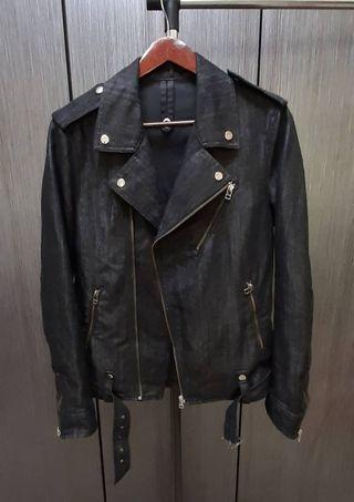 日本品牌SEMANTIC DESIGN 男黑色騎士外套L