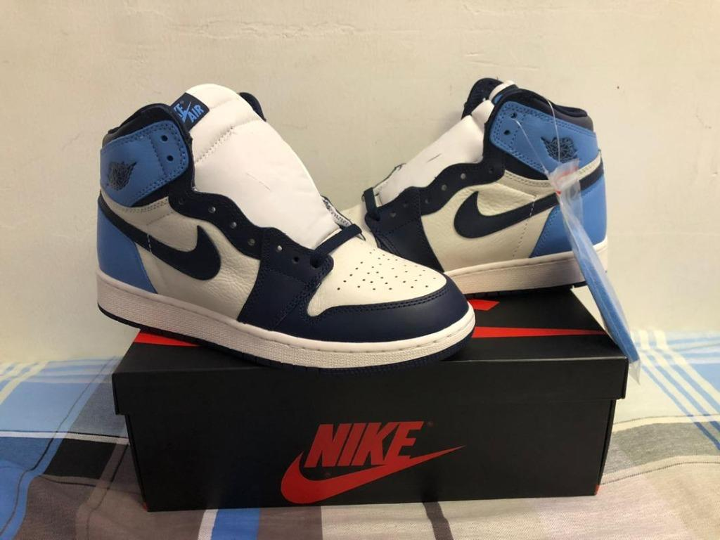 Air Jordan 1 Obsidian Gs Men S Fashion Footwear Sneakers On Carousell