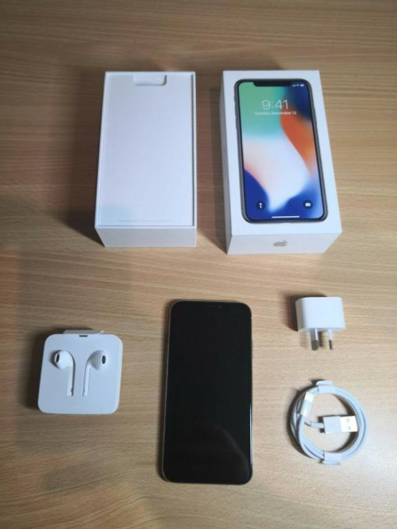 Apple iPhone X - 256GB  - As new condition - All accessories