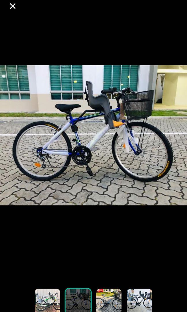 Brand new 26inch multi-speed bicycle able to customise for different child seat !!!