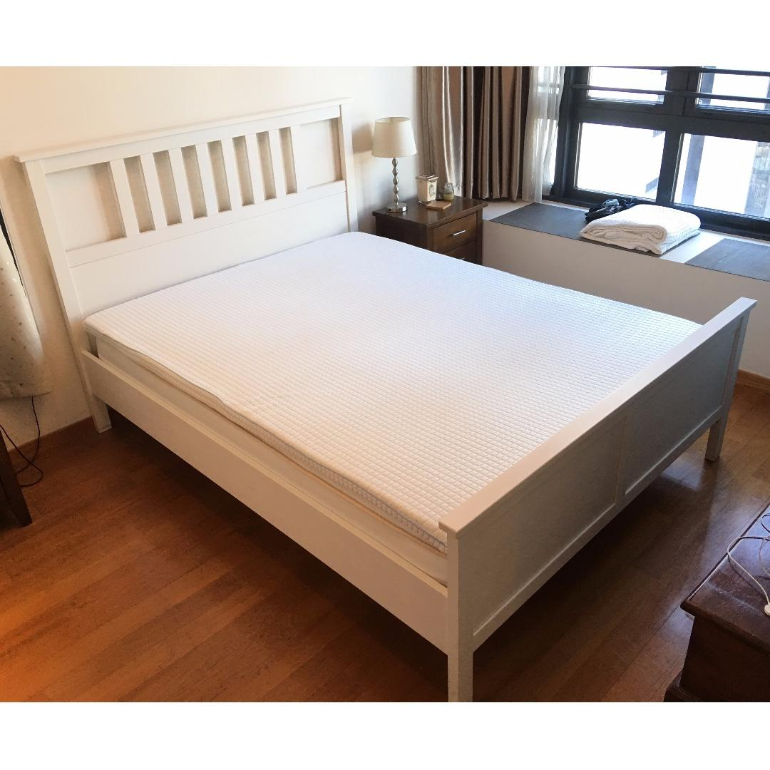 Ikea Hemnes King Size Bed Frame Furniture Beds Mattresses On Carousell