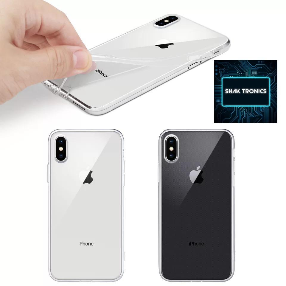 Iphone X cover,Ultra Slim Clear Silicone Gel back Cover X&XS