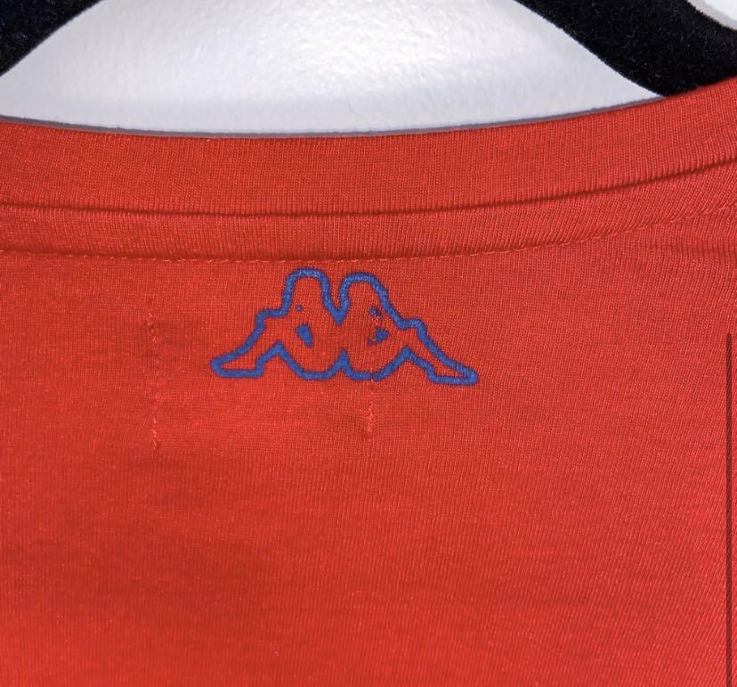 Kappa Authentic Seoul Red and Blue Embroidered T-Shirt