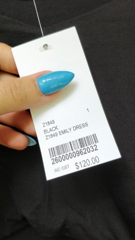 KOOKAI Emily Dress Black Cut Out Midi Off Shoulder Bodycon Tight Classic LBD Little Black Dress