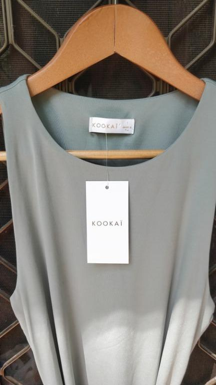 KOOKAI Kahlo Midi Dress Africa Green Bodycon Belt Wrap Tight Bridge Bec Sheike