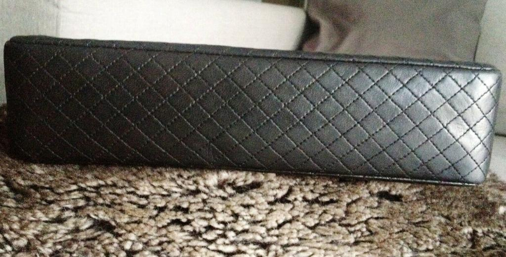 RARE CLASSIC CHANEL Black Quilted CC Turnlock Silver Chain Medium Flap Bag